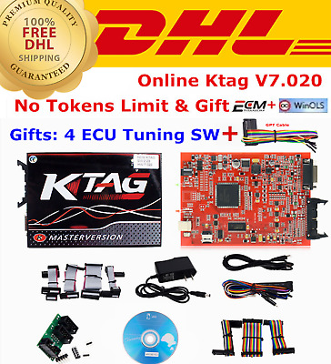 V2.23 KTAG ECU Programming Tool FW V7.020 KTAG Master Version Unlimited Token
