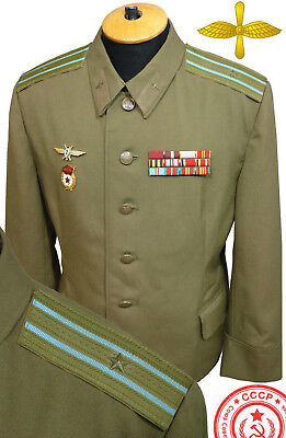 RAR Original Soviet military FIELD uniform Air Force USSR Russian Pilot MiG Su