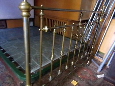 A Victorian Brass And Cast Double Bed