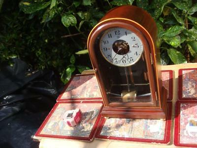 Vintage Electric  French Bulle Electro - Magnetic 800 Day Mantle Clock See Video