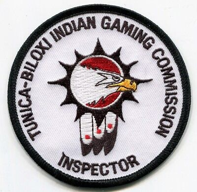 Tunica-Biloxi Indian Gaming Commission Inspector Patch /// Mississippi Police