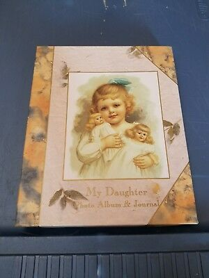 victorian baby photo album and journal for daughter