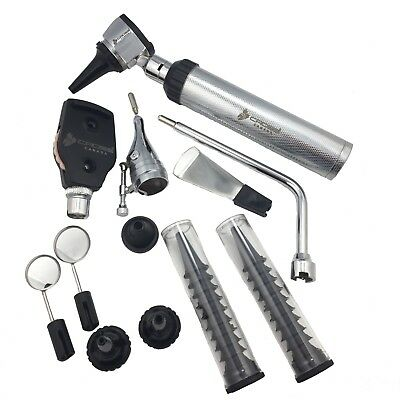 ENT Ophthalmoscope & Otoscope Diagnostic Set, with 12 different instruments