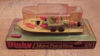 Dinky 675 Motor Patrol Boat mint in original bubble box with all missiles