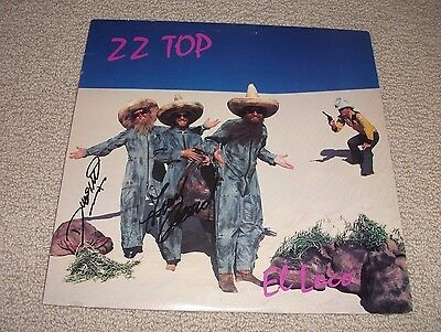 ZZ Top - Signed El Loco Vinyl LP Record *Dusty & Frank Signed* Autographed Rare
