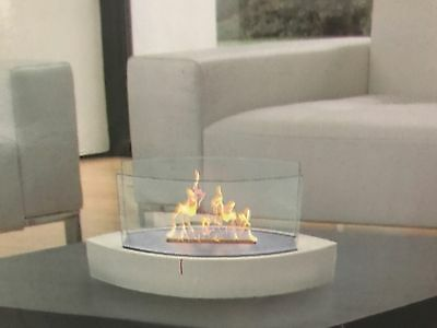 Anywhere Fireplace Lexington table top Bio Ethanol Fuel White indoor outdoor.