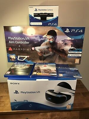 Sony PlayStation VR Bundle Farpoint Game VR Aim Gun Plus Resident Evil