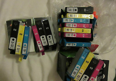 Empty Ink Cartridges HP 364 Large Bundle of 17 Cartridges all USED