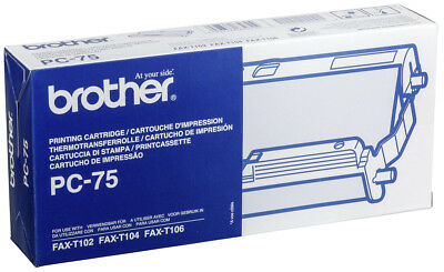 Brother PC 75 PC-75 Thermal Ribbon Cassette Blk PC75