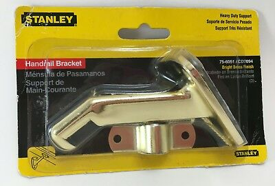 Stanley CD 7094/75-6051 Heavy Duty Support Handrail Bracket Bright Brass Finish