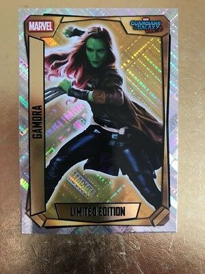 Hero Attax 2017 Marvel Missions- # LEMA Gamora Gold Limited Editions