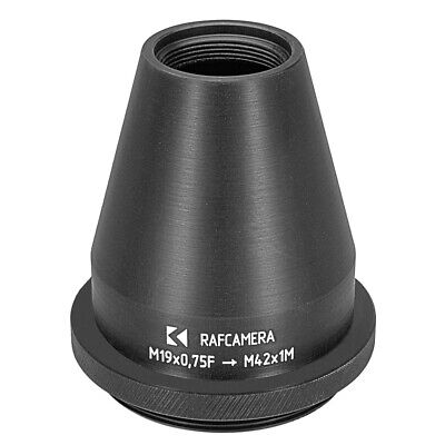 M52x0.75 Male to M19x0.75 Female Thread Adapter 52mm to 19mm Step-Down Ring