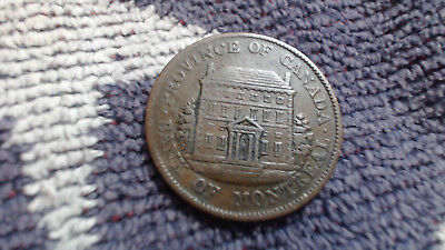 Canada 1844   1/2  Cent   Large Penny Montreal    Token..........#72