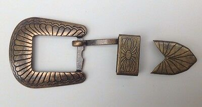 Vintage Western Cowboy Three Piece Belt Buckle