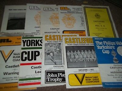 Castleford Rugby League Programme Collection Homes 1971 - 1983 X 10