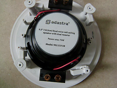 "6.5"" STEREO CEILING OR WALL SPEAKER. Adastra 952.537UK"