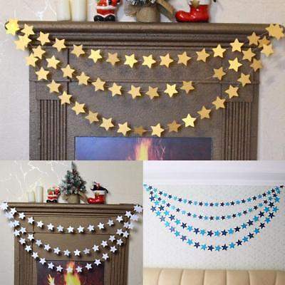 Hanging Star Paper Garlands String Chain Christmas Decorations For Home N7