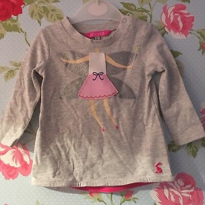 BNWT JOULES BABY GIRLS FAIRY TOP 3-6 months gorgeous ideal for Christmas