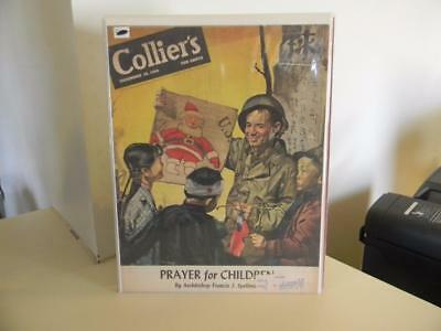 Lot Of 6 Vintage Collier's Magazine Covers Only 1940's 1950's