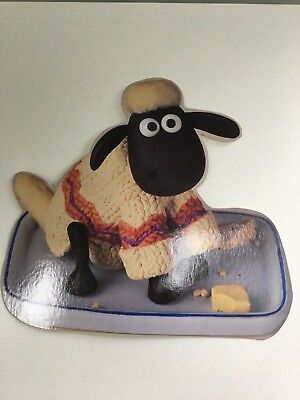 "Vintage Aardman Wallace and Gromit ""Shaun the Sheep"" Stand Up Card"