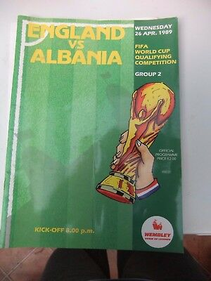 England v Albania - World Cup Qualifying 1989. Plus Ticket & Poland ticket stub