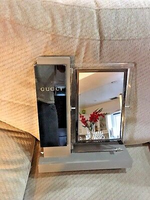 Rare Display Gucci Lucite  Counter Top Display Mirror