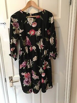 Beautiful Floral ASOS Maternity Dress 10 12 Excellent Condition