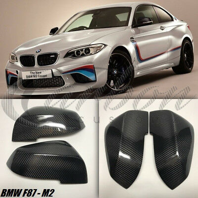 Bmw F87 M2 Real Carbon Fibre Wing Mirror Covers 2015 + M Performance Carbon PAIR