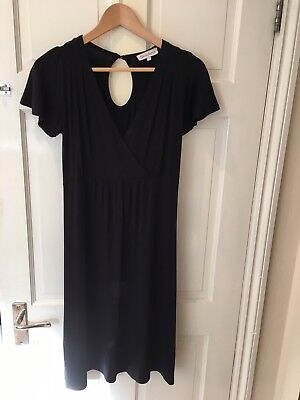 Simple And Flattering Black Seraphine Maternity Nursing Dress Size Small 8-10