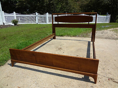 Mid Century MCM Walnut Full Size Bed, Dated 1963, Beautiful!