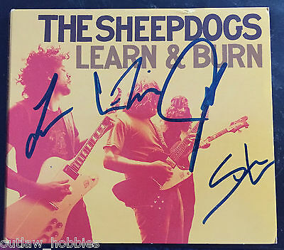 The Sheepdogs Learn and Burn Band Autographed Signed CD & Cover COA B
