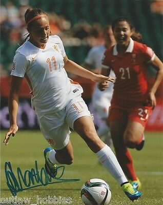 Netherland World Cup Lieke Martens Autographed Signed 8x10 Photo COA