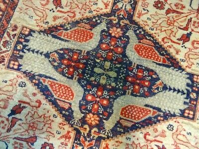"Cr.1920 Sistan Baluch Antique Persian Exquisite Hand Made Rug 2' 6"" x 2' 6"""