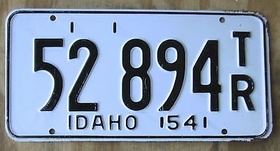 IDAHO  NOT A Co 1954 Trailer license plate  1954  52 894