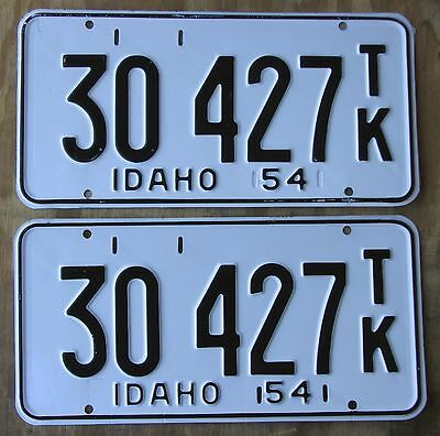 IDAHO TRUCK 1954 PAIR license plate  Unissued  1954  30427