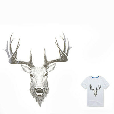 Deer Iron On Patches Ironing Stickers For Clothing DIY Decor Washable AppliqueFT