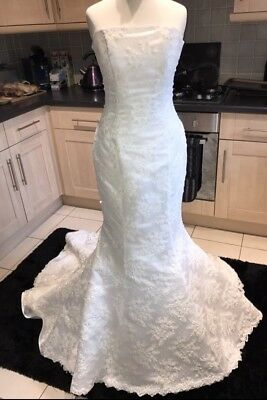 maggie sottero wedding dress Size 8 Mermaid STUNNING! Lace & sparkly pearls