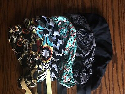 KIMKAPS Surgical Scrub Hat Caps Lot of 5 PonyTail style