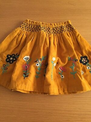 Girls Cord Embroidered Skirt Age 3-4