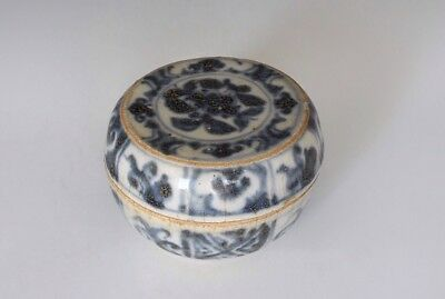 An Early Antique Ming Dynasty Style Blue & White Box