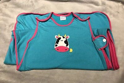 Cute Cow Motif Grobag Sleeping Bag 18 - 36 Months 1 Tog - Great Condition