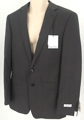 Mens Calvin Klein 191040 Grey Striped Blazer  MBYR2  42R $487