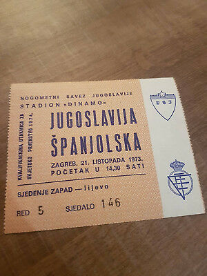 Football ticket Yugoslavia - Spain