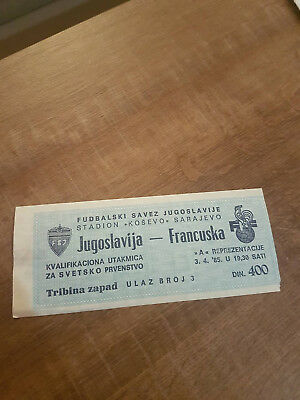 Football ticket Yugoslavia - France
