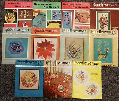 LOT OF 11 VINTAGE NEEDLEWOMAN AND NEEDLECRAFT MAGAZINES - lot 4