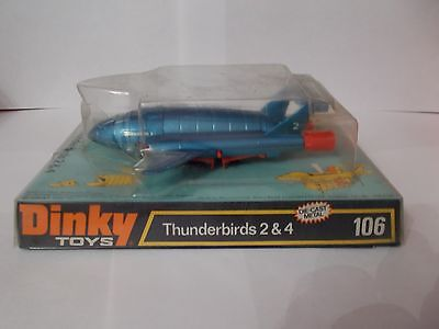 dinky 106 thunderbirds 2&4 boxed vintage 1977