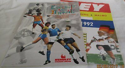 England V Brazil Football Programme 17Th May 1992 Friendly