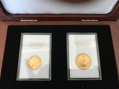 1897 Russian Gold Rouble 7.5 & 15 coins