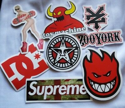 Obey Supreme 7 Skateboard Stickers bomb Vinyl Laptop Luggage Decals Sticker