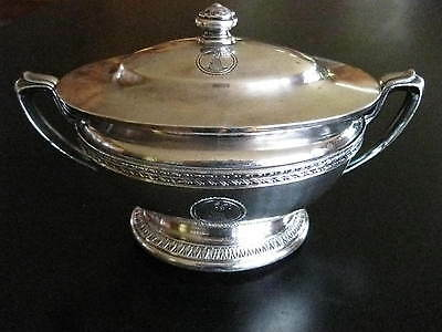 Hotel Columbia Vintage Hotel Silver Plated Soup Tureen 1931